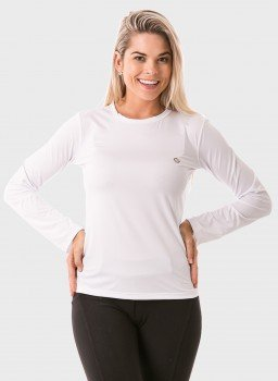 feminina t shirt longa ice branca frente c