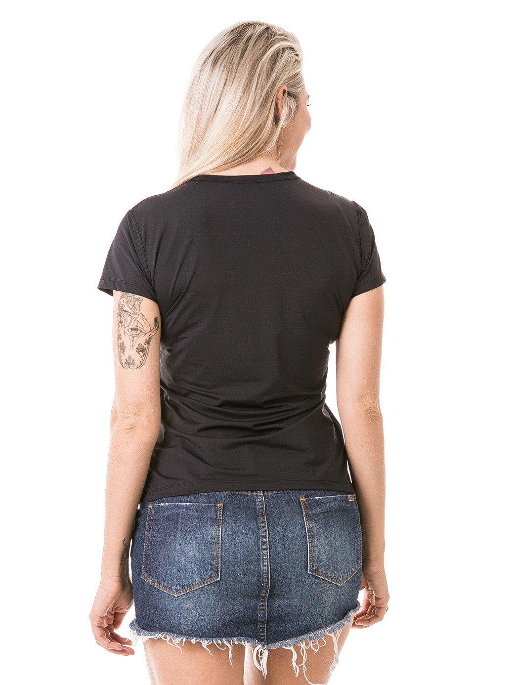 feminia t shirt curta ice preta costas b