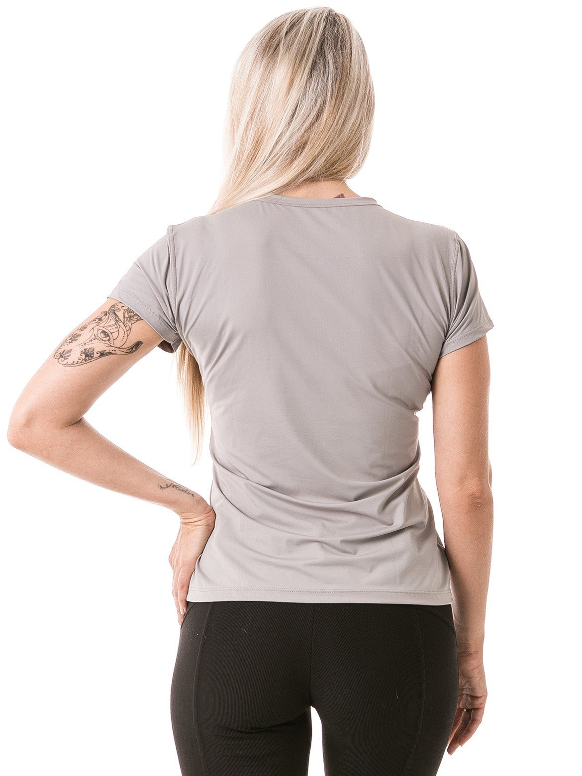 feminina t shirt curta ice cinza costa b