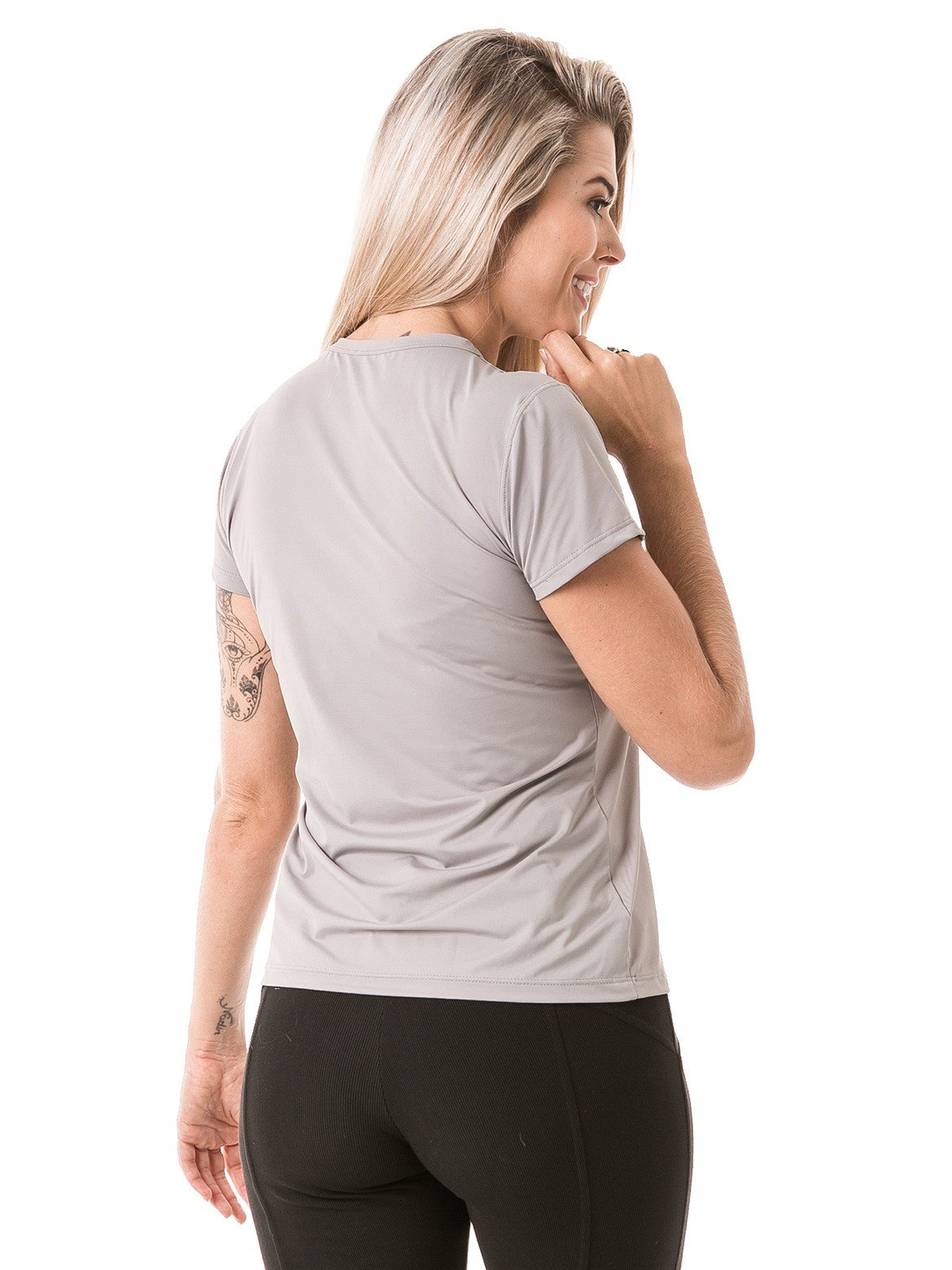 feminina t shirt curta ice cinza lateral b