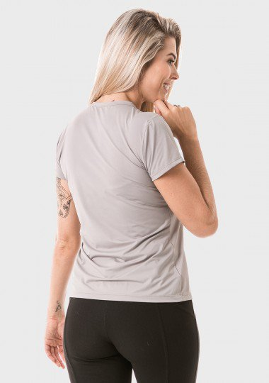 feminina t shirt curta ice cinza lateral c
