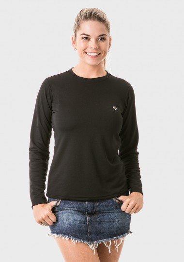 feminina t shirt longa dry preta frente 1 c