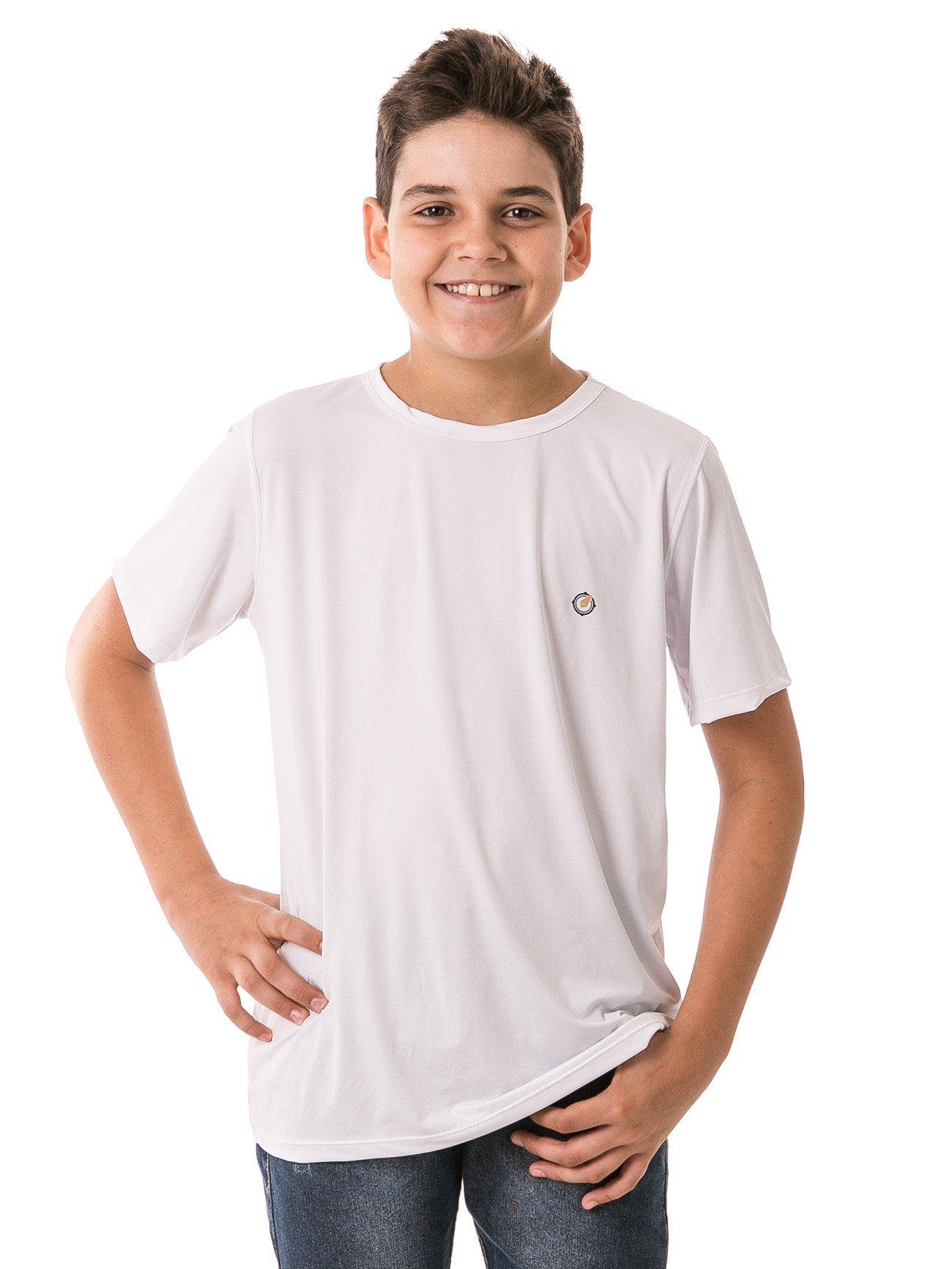 infantil masculinas t shirt curta ice branco frente 2 b