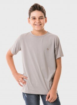 infantil masculinas t shirt curta ice cinza frente c