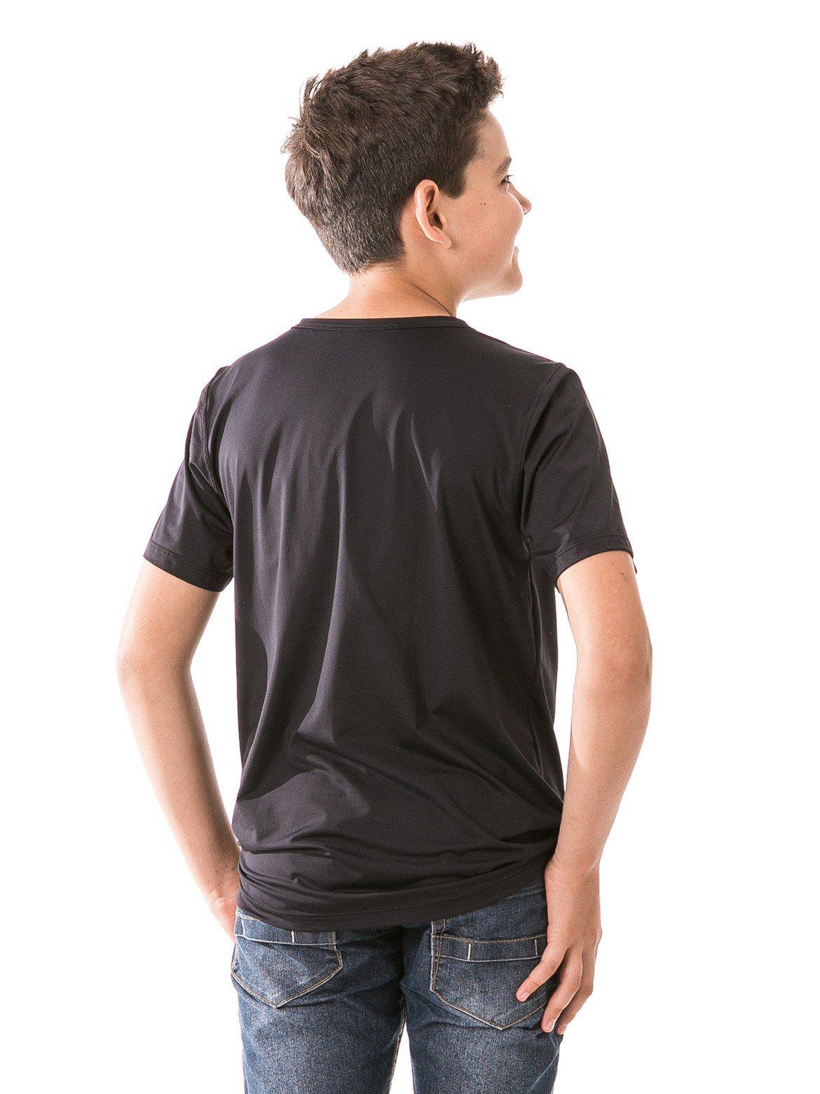 infantil masculinas t shirt curta ice preta costas b