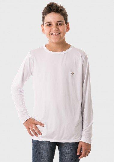 infantil masculinas t shirt longa ice branca frente c