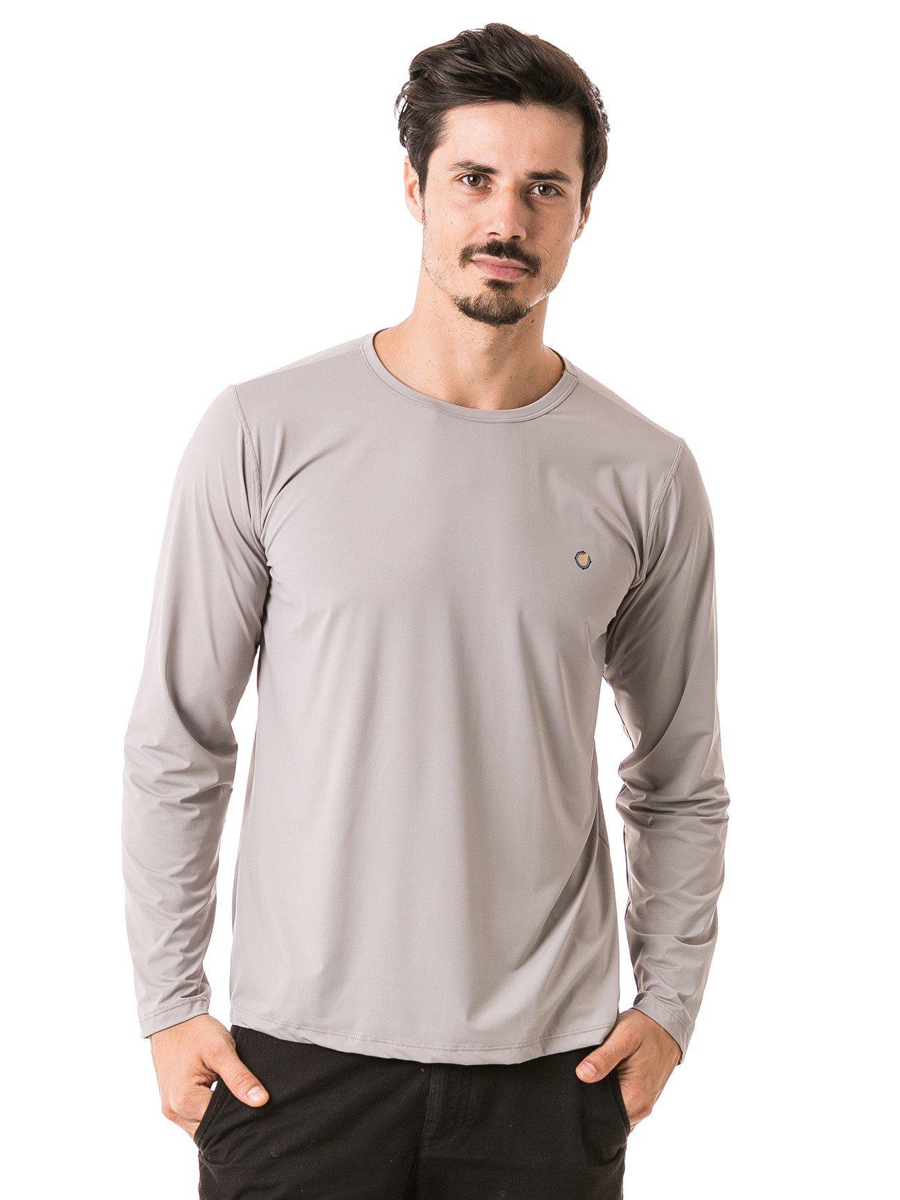 masculina t shirt longa ice cinza frente b