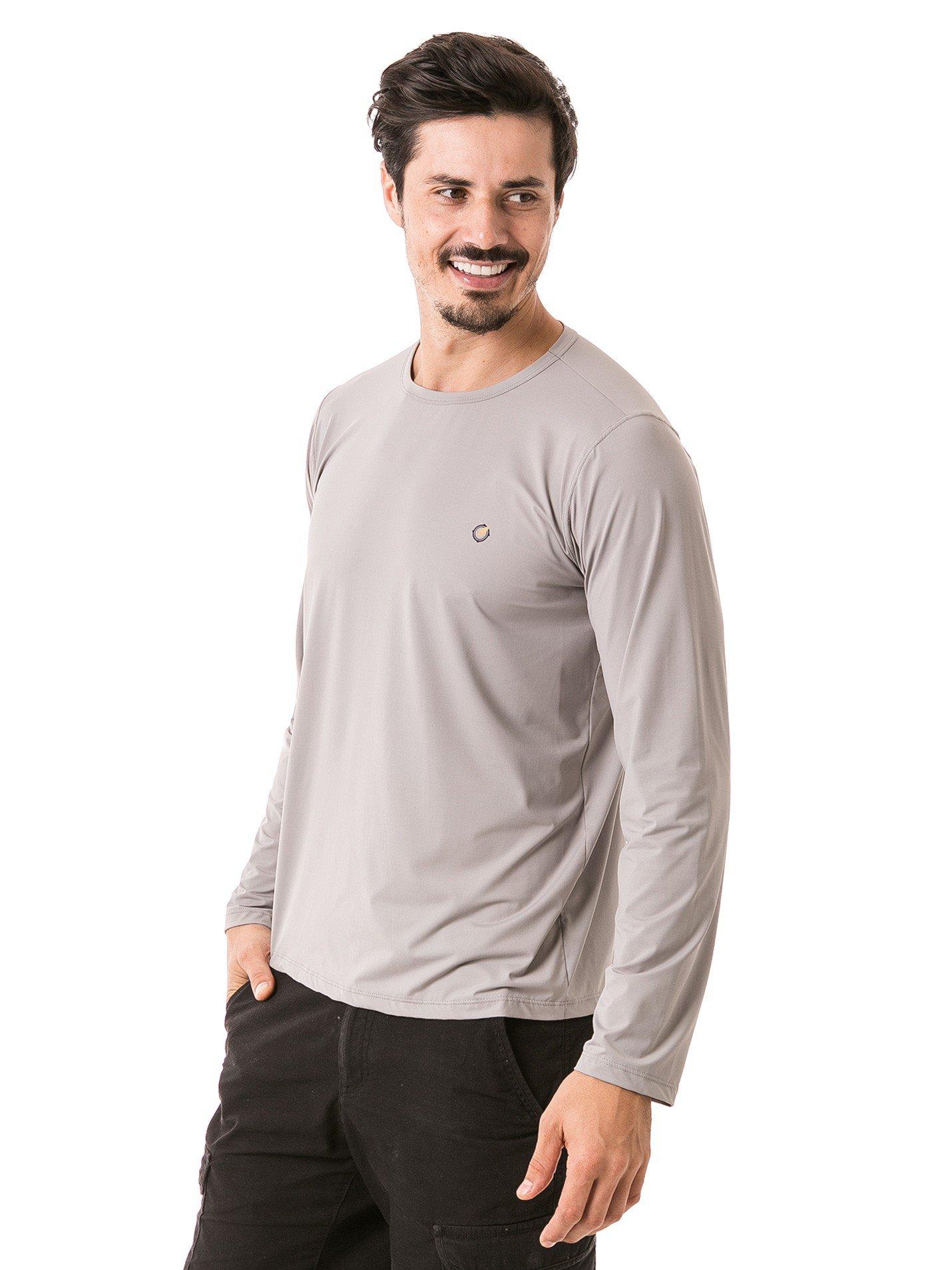 masculina t shirt longa ice cinza lateral b