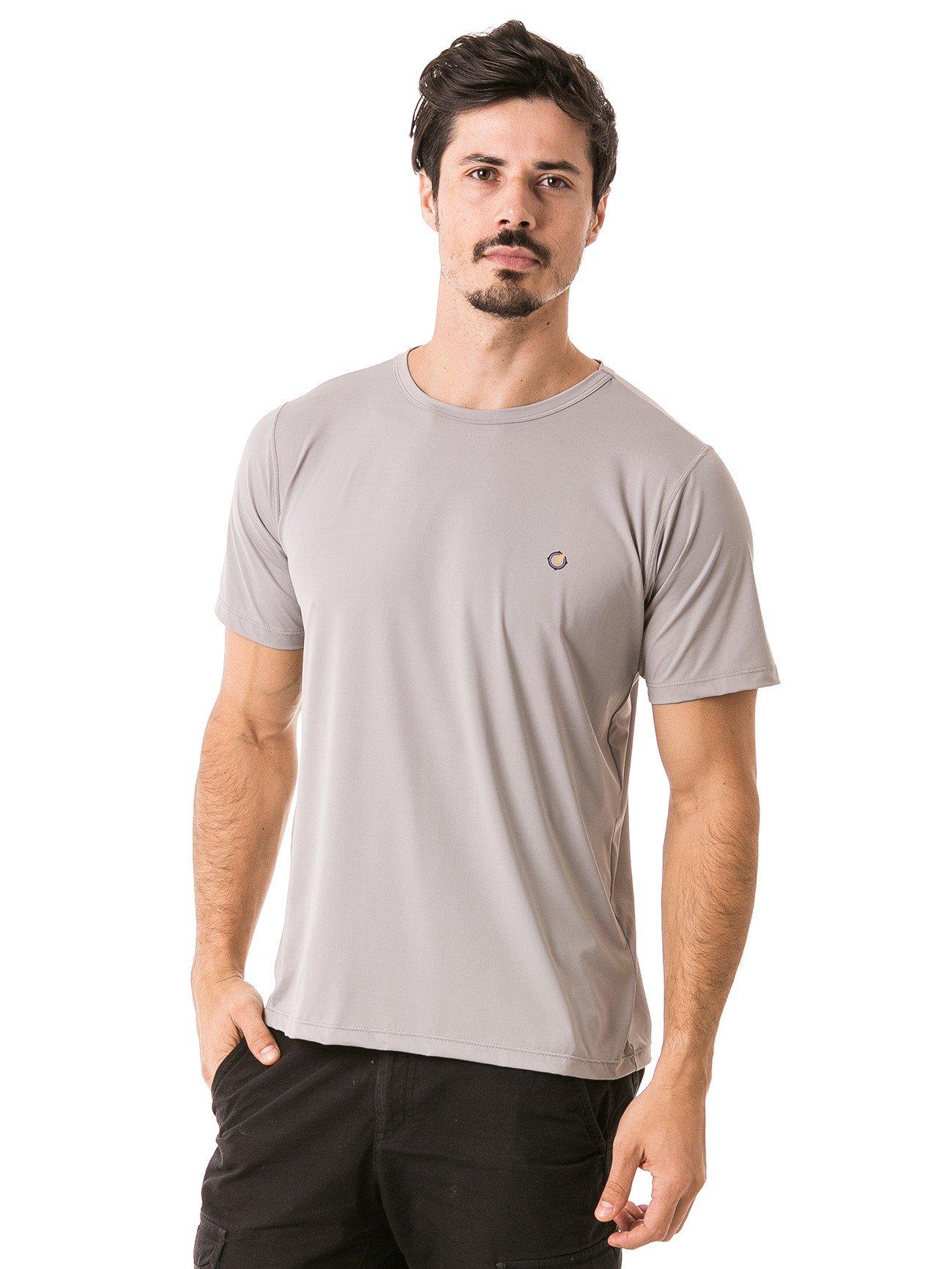 masculina t shirt curta ice frente cinza b