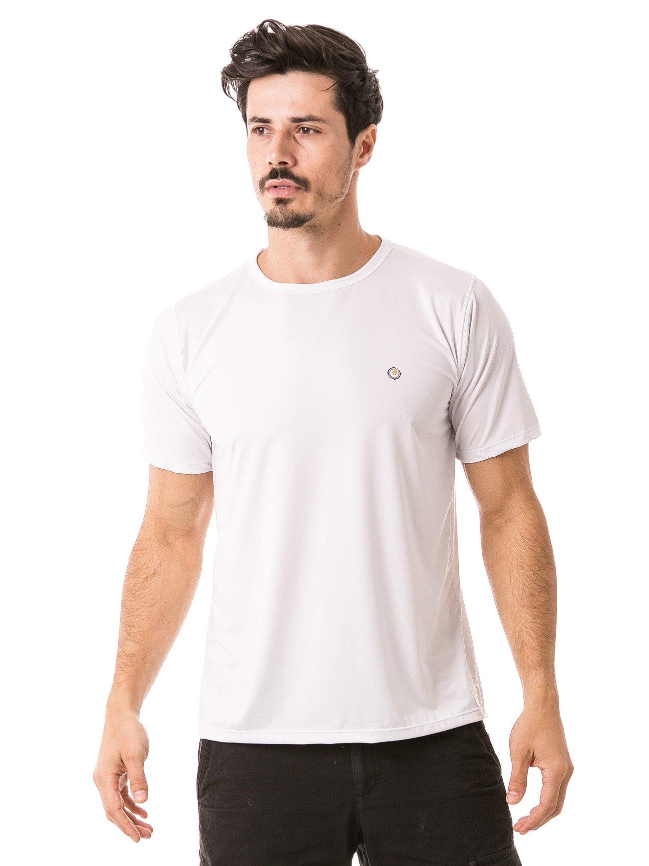 detalhe masculina manga curta de algodão extreme uv