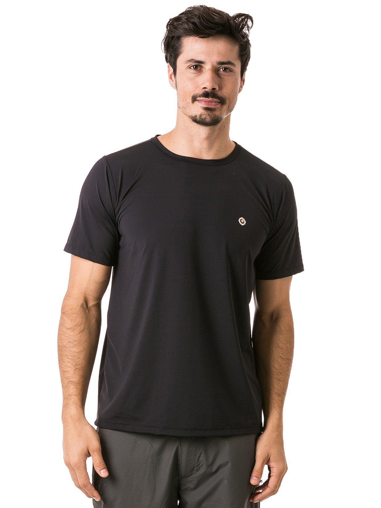 camisa manga curta algodão preta