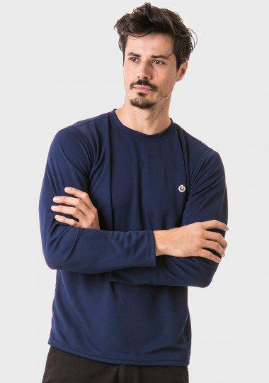 masculina t shirt longa dry azul frente 2 c