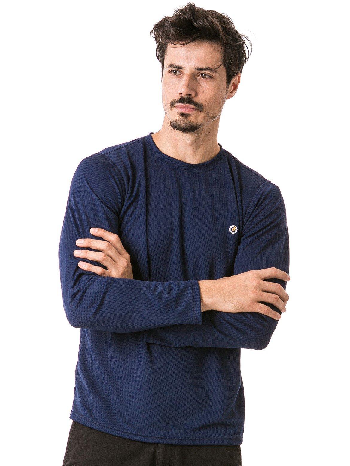 masculina t shirt longa dry azul frente 2 b