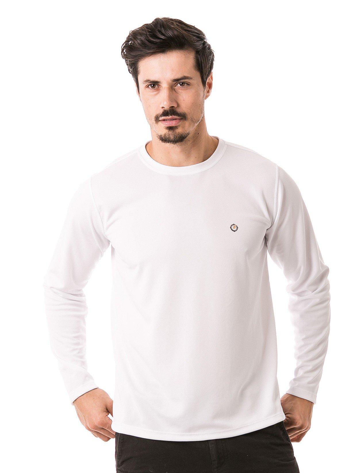 masculina t shirt longa dry branca frente b