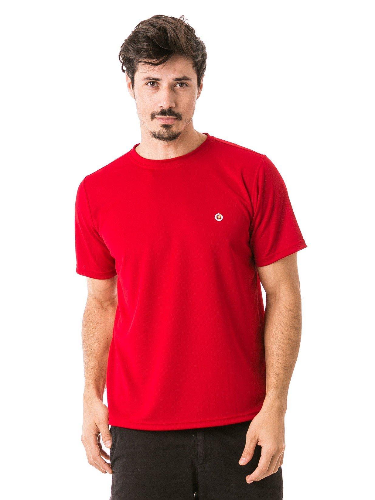 masculina t shirt curta dry vermelha frente 2 b