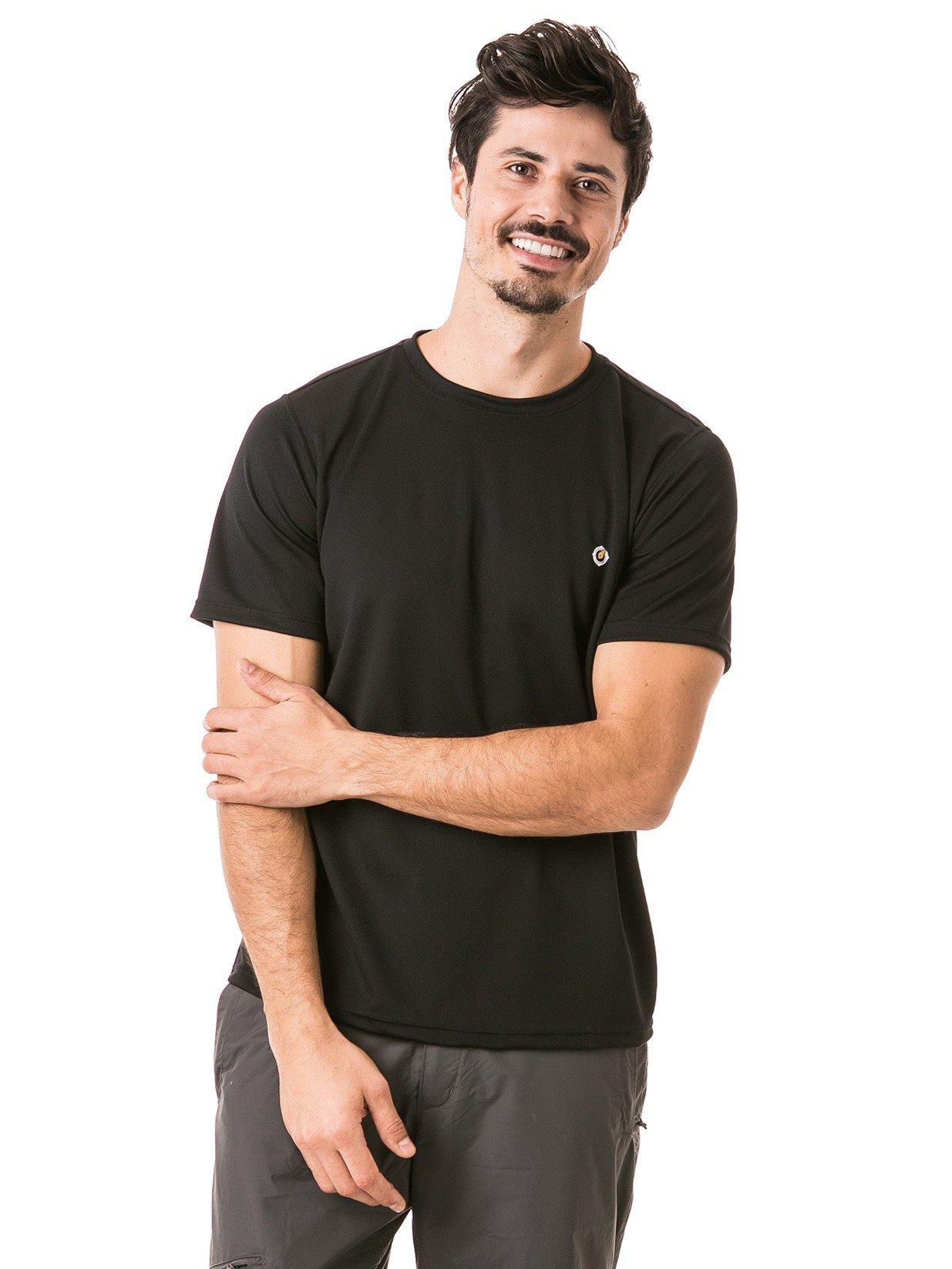 masculina t shirt curta dry preta frente b