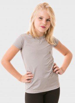 feminina infantil t shirt curta ice cinza frente c