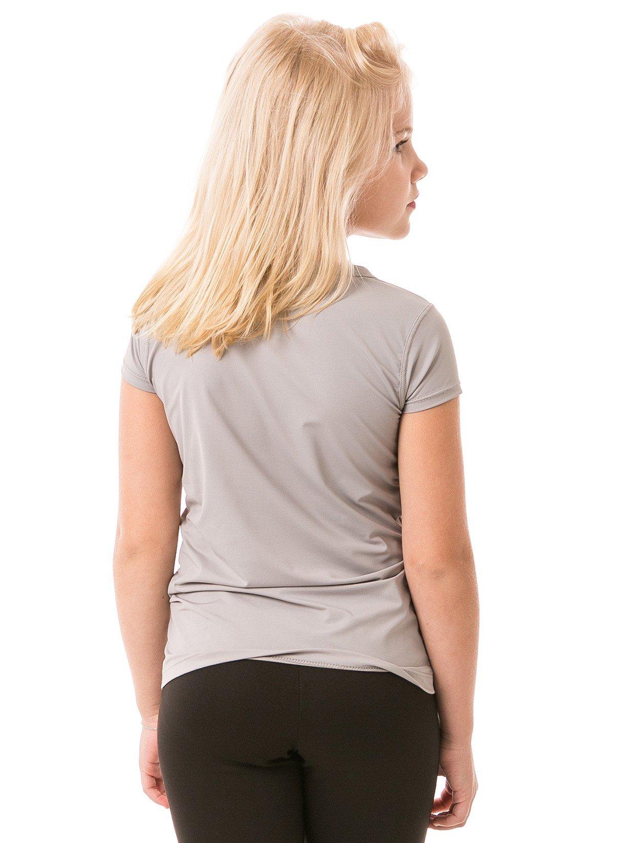 feminina infantil t shirt curta ice cinza costas b