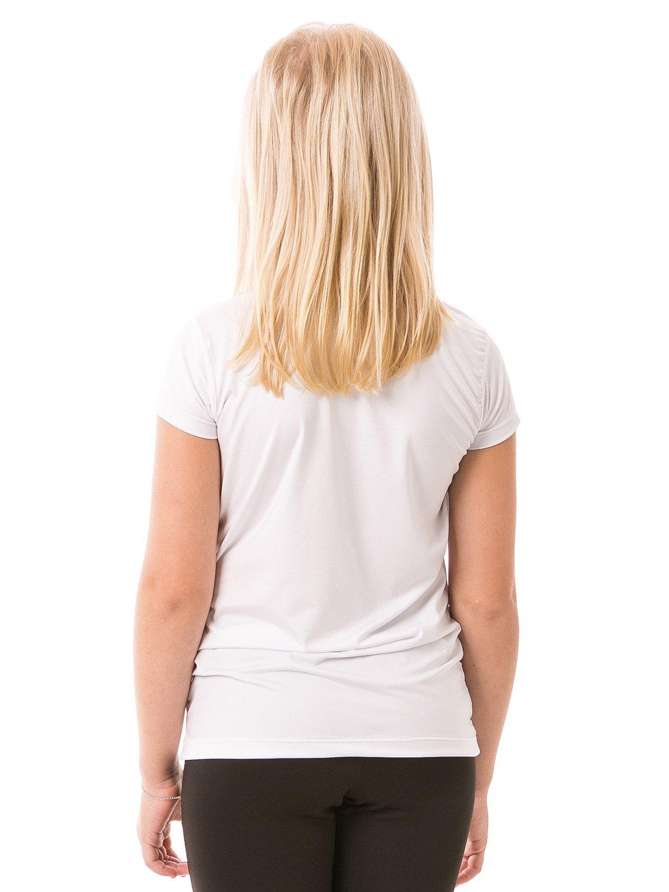 feminina infantil t shirt curta ice branca costas b