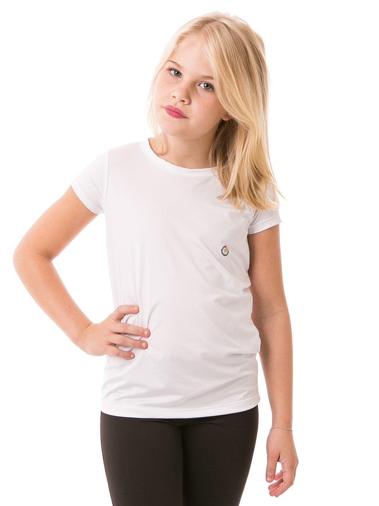 feminina infantil t shirt curta ice branca frente b