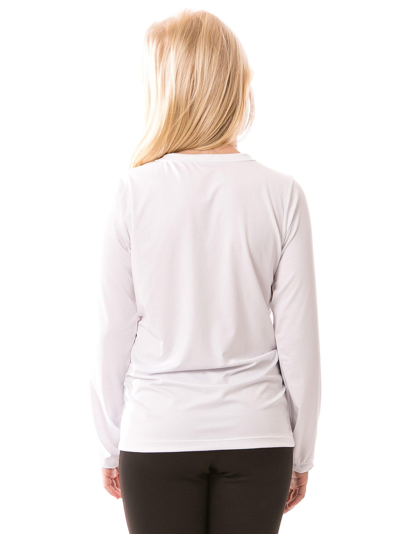 feminina infantil t shirt longa ice branca costas b