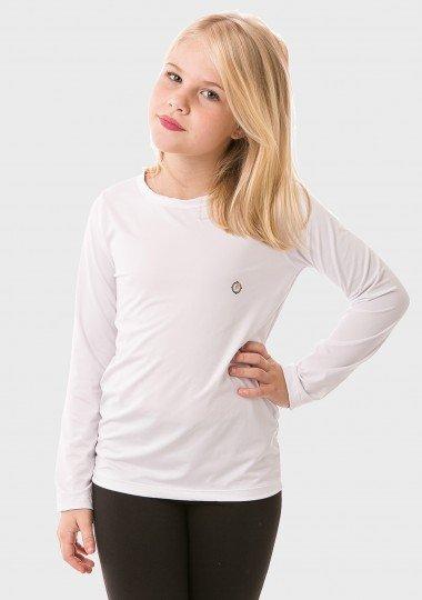 feminina infantil t shirt longa ice branca frente c