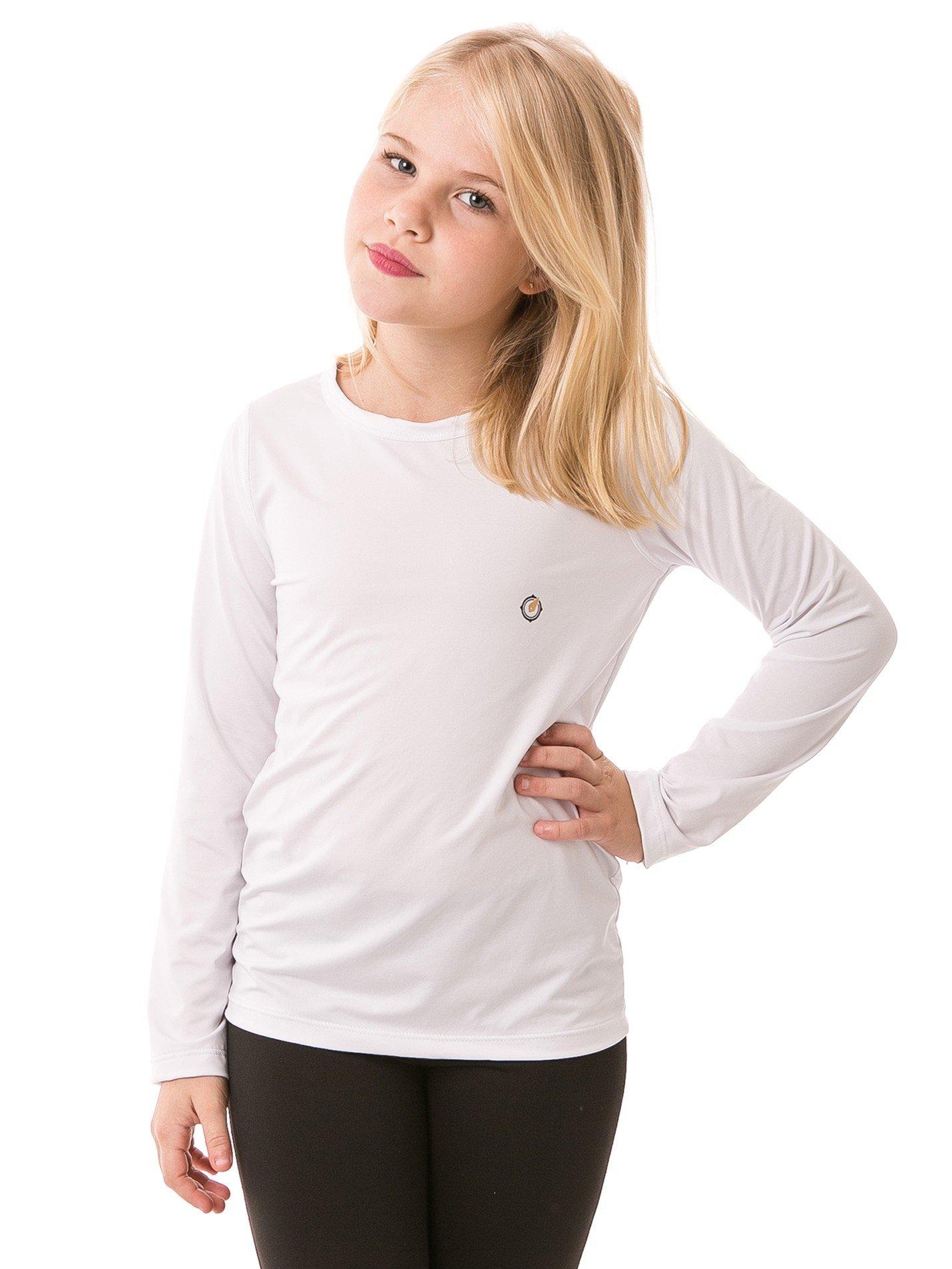 feminina infantil t shirt longa ice branca frente b