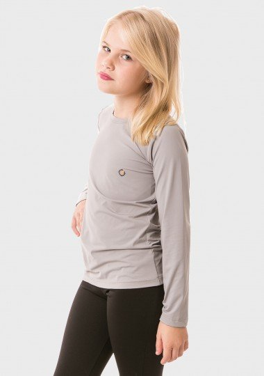 feminina infantil t shirt longa ice cinza lateral c
