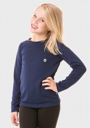 feminina infantil t shirt longa dry azul frente 2 c