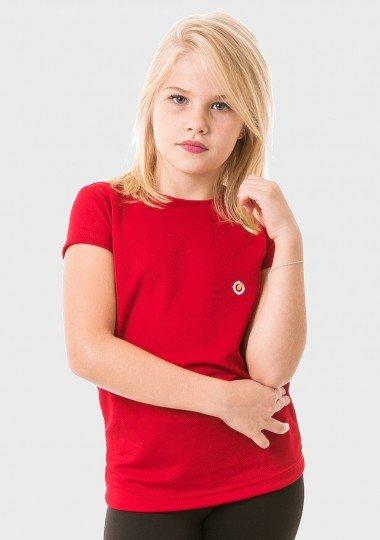 feminina infantil t shirt curta dry vermelha frente 2 c