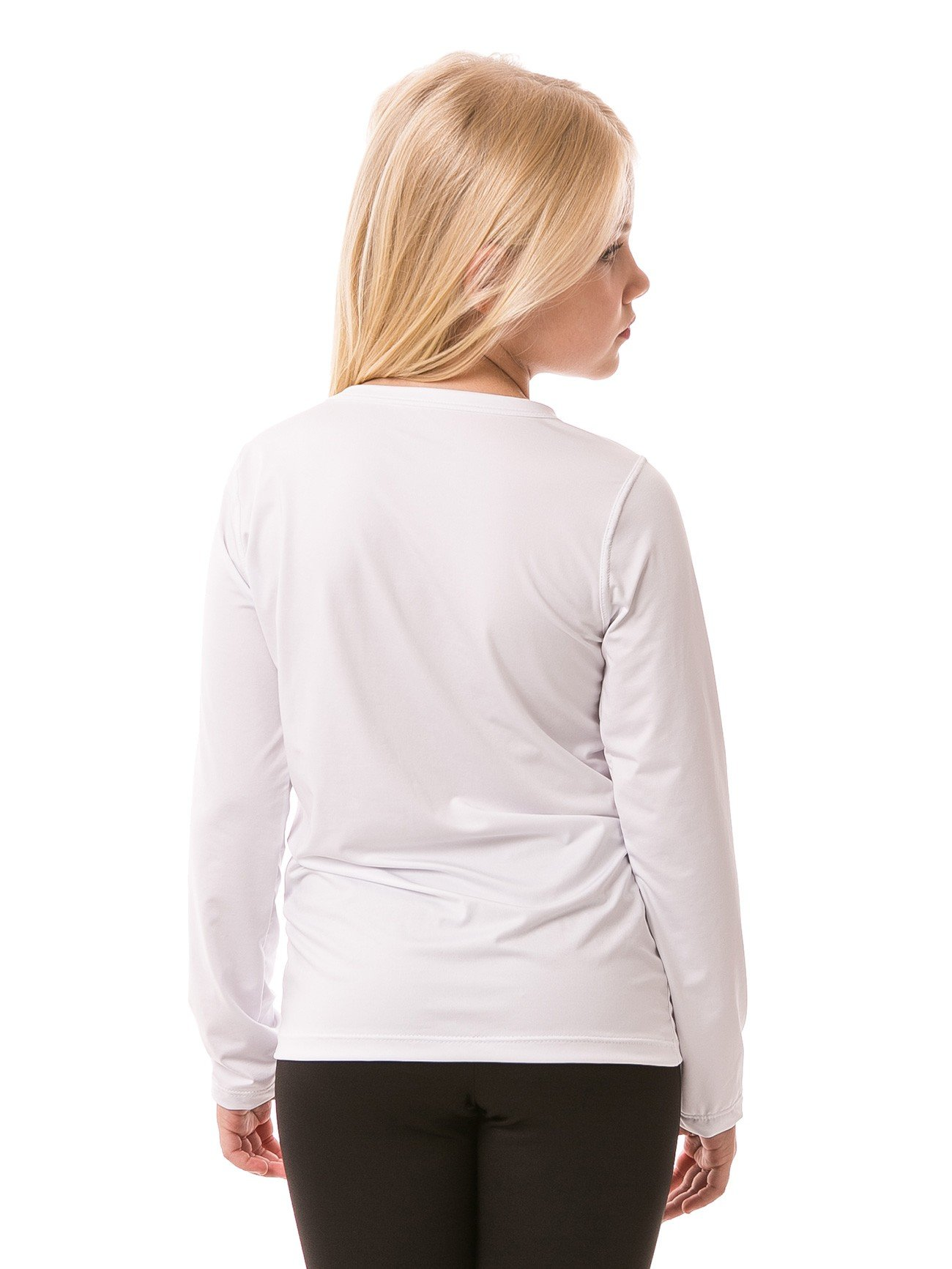 camiseta infantil feminina longa ice branca costas b