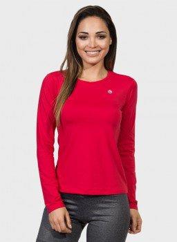 feminina t shirt longa ice vermelha frente c