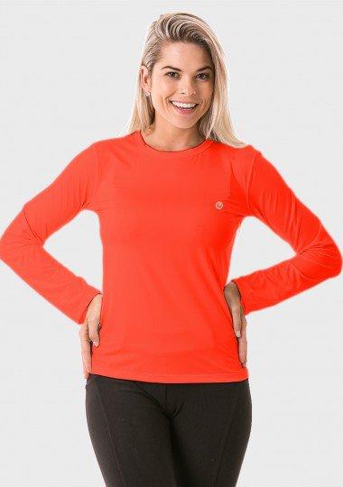 feminina t shirt longa ice coral frente c