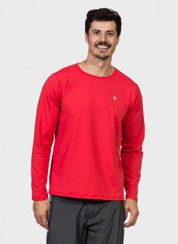 masculina t shirt longa ice vermelho frente c