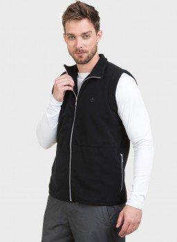 colete masculino fleece preto c