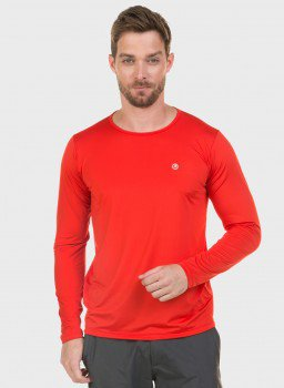 t shirt masculina new dry manga longa vermelha fente c