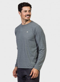 camiseta masculina manga longa mescla lateral c
