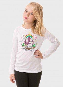 camiseta longa infantil feminina unicornio frente c 2