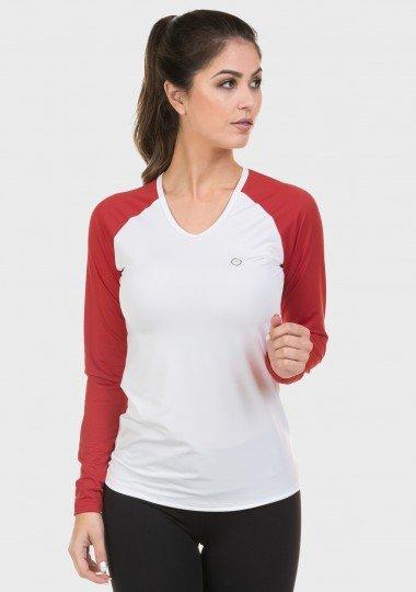 raglan feminina frente vermelha branco escuro c