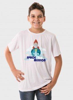 camiseta infantil masculina manga curta new dry branca frente c