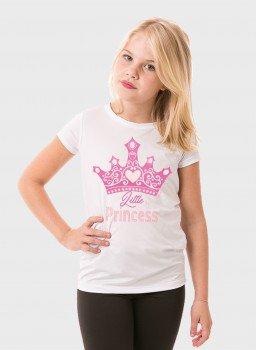 camiseta manga curta infantil feminina new dry branca frente princesa c