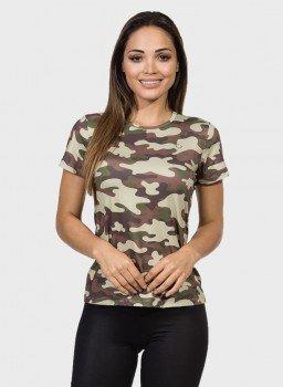 camisa camuflada feminina manga curta protecao solar extreme uv militar frente c