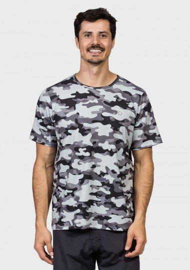 camisa camuflada masculina manga curta protecao solar extreme uv urbana frente c