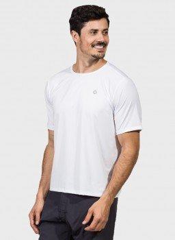 camiseta basic masculina com protecao solar manga curta branca extreme uv new dry lateral c
