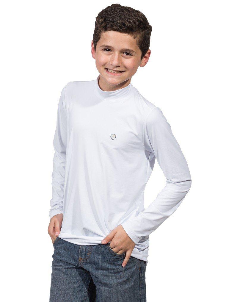 infantil masculinas t shirt longa dry preta frente b