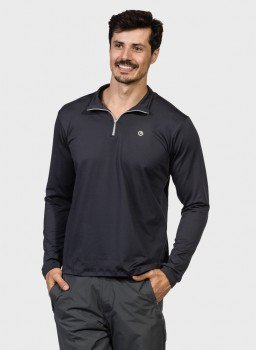 camisa termica masculina gola alta com protecao solar extreme uv chumbo frente c