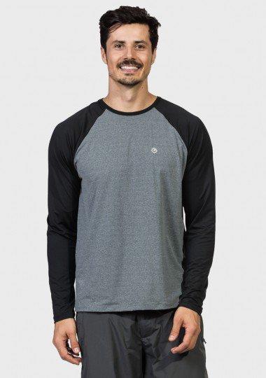 camisa uv masculina ice protecao solar raglan manga longa extreme uv frente c