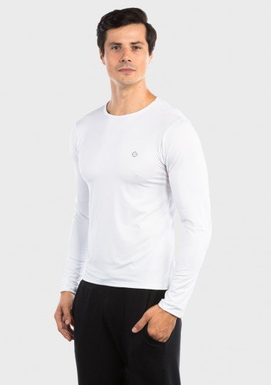 camisa segunda pele basic com protecao solar extreme uv masculina lateral c