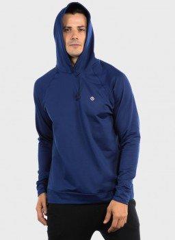 camisa uv termica para frio com capuz masculina extreme uv capuz azul c