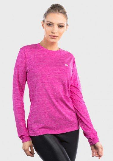 camisa uv mescla colors com protecao solar extreme uv feminina rosa lateral c